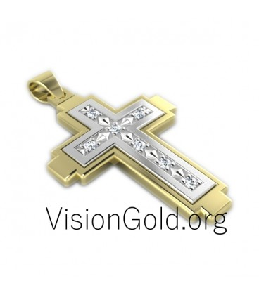 Women's Gold Cross Necklace 0032,cross women, old cross
