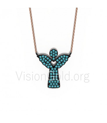 High Quality Charm Sweet Women Pendant Necklace Angel 0008