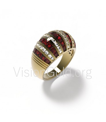 Classic Ring with Diamonds 0427