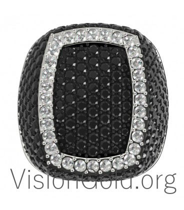 Gold Ring K18 With Diamonds Brilliant 0604
