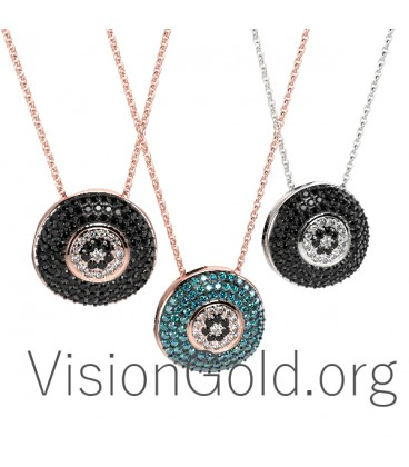 Evil Eye Charm Necklace 0341