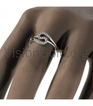 Gold Ring with Diamonds 0637