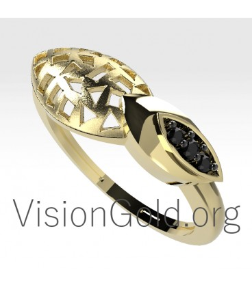 Gold Ring With Diamonds for Women Online 0670
