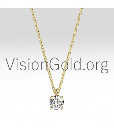 Diamond Solitaire Necklace 0,10 Ct 0003