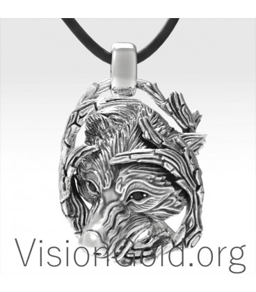 Mystic Wolf Necklace -Wolf Necklace-Wolf Jewelry-Wolf